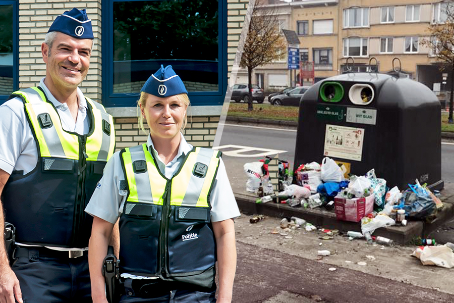 deurne leeft politie antwerpen sluikstort glasbol frituurolie