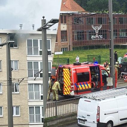 deurne leeft ongeval brandweerman august van de wielelei ruggeveldlaan droogkast brand